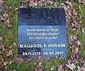 M F Husain Grave Marker.jpg