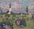 Maastik kirikuga, Konrad Mägi, EKM j 237-4 M 1067.jpg