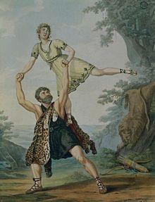 Uno dei primi passi a due, fra due danzatori (Deshayes e Harvey d'Egville) - 1804