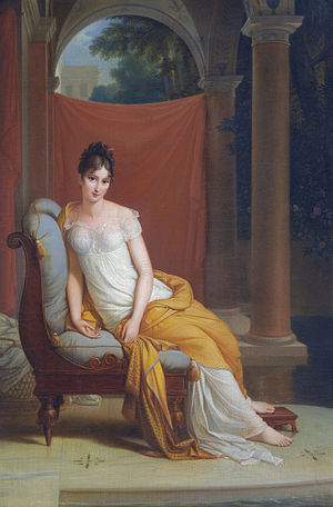Benjamin Constant -  Madame Récamier (1777–1849) by Alexandre-Evariste Fragonard Juliette Récamier was a friend and intellectual compatriot of Constant