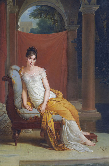 Madame Recamier (1777-1849) by Alexandre-Evariste Fragonard Juliette Recamier was a friend and intellectual correspondent of Constant Madame Recamier (1777-1849) by Alexandre-Evariste Fragonard.jpg