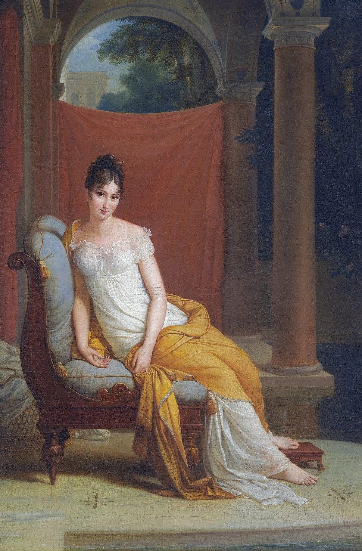 Madame Recamier (1777–1849) by Alexandre-Evariste Fragonard