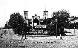 Berlin–Wrocław railway - Märkischer Bahnhof in Breslau (Wrocław) in 1880