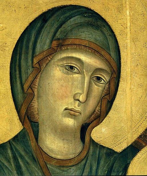 Maestà del Louvre, dettaglio del volto della Vergine