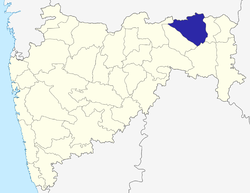 Location of Nagpur district in Maharashtra