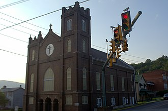 National Register of Historic Places listings in Alleghany County, Virginia - Image: Main Street Baptist Church (Clifton Forge, Virginia)