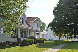Callensburg, Pennsylvania - Houses on Main Street