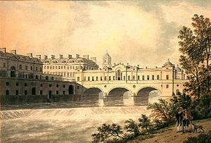 Pulteney Bridge - Pulteney Bridge by Thomas Malton in 1785