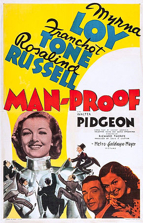 Description de l'image Man-Proof poster.JPG.