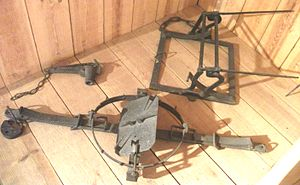 "Mantrap (snare) - Two mantraps (one a ""humane"" type) and a spring gun"