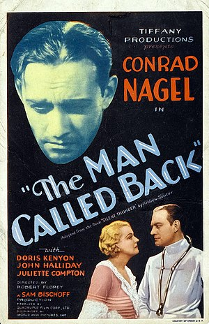 The Man Called Back - Theatrical release poster
