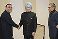 Manmohan Singh meeting the President of Pakistan, Mr. Asif Ali Zardari, on the sidelines of the XVI Non-Aligned Movement (NAM) Summit, in Tehran, Iran. The Union Minister for External Affairs.jpg