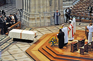 Manute Bol - Bol's memorial service at the National Cathedral