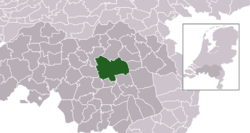 Highlighted position of Meierijstad in a municipal map of North Brabant