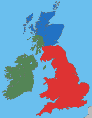 English: A map showing the approximate areas w...