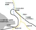 Map around Kanoya station.png