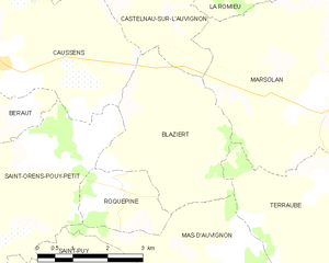 Blaziert - Blaziert and its surrounding communes