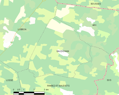 Map commune FR insee code 40030.png