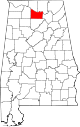Map of Alabama highlighting Morgan County.svg