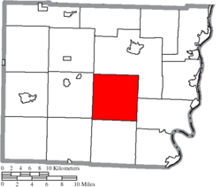 Location of Smith Township in Belmont County