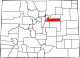 Map of Colorado highlighting Arapahoe County.svg