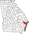 Map of Georgia highlighting Liberty County.svg