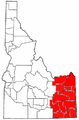 Map of Idaho highlighting Eastern Idaho.png