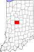 State map highlighting Boone County