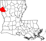 State map highlighting De Soto Parish