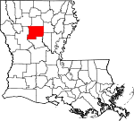 State map highlighting Winn Parish
