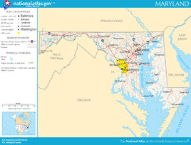 Map of Maryland NA
