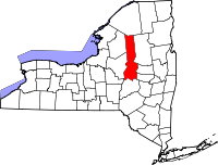 Map of Њујорк highlighting Herkimer County