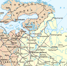 Arkhangelsk Wikipedia - Russian cities map