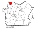 Map of Washington Township, Fayette County, Pennsylvania Highlighted.png