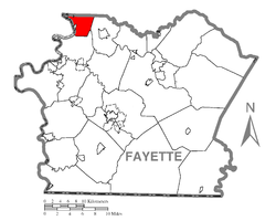 Location of Washington Township in Fayette County