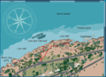 Map of the CT dive site Cow and Calf.png
