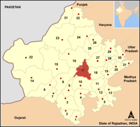 Localisation de District d'Ajmer