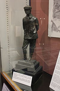 Maquette of the Charles Rolls Statue at Dover, in Monmouth Museum, Wales.JPG