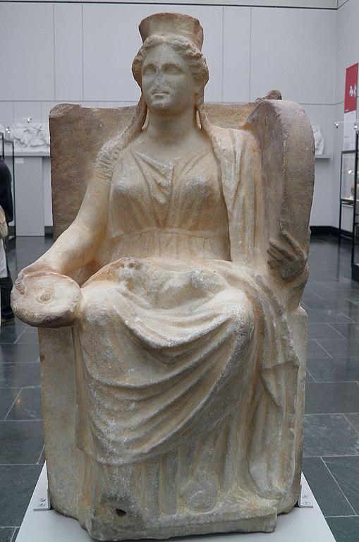 file marble statue of cybele 4th century bc staatliche antikensammlungen munich 8958416166. Black Bedroom Furniture Sets. Home Design Ideas