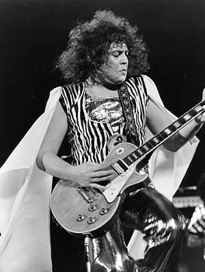 Glam rock - Marc Bolan of T. Rex performing on ABC's In Concert, 1973