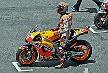 Marquez sulla griglia di partenza del Gran Premio di Catalogna del 2015.