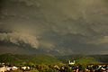 Margalla Hills Islamabad surrounded by thick clouds.JPG