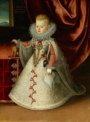 Maria Anna of Spain - Image: Maria Anna, Infanta of Spain, future Holy Roman Empress by Bartolomé González, c. 1608 1610