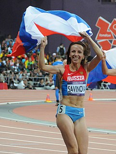 Mariya Savinova Russian female 800m Olympic sprinter