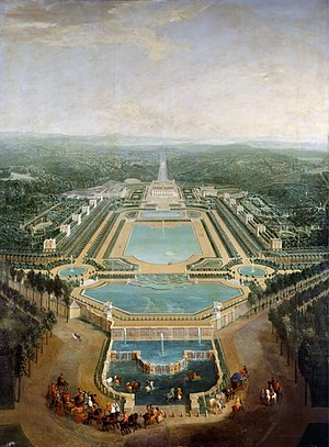 Château de Marly - The Château de Marly painted by Pierre-Denis Martin in 1724.
