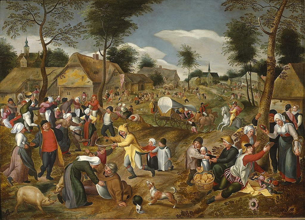 https://upload.wikimedia.org/wikipedia/commons/thumb/0/0e/Marten_van_Cleve_-_Village_feast.jpg/1024px-Marten_van_Cleve_-_Village_feast.jpg