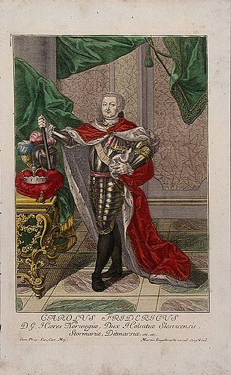 Charles Frederick, Duke of Holstein-Gottorp - Coloured engraving by Martin Engelbrecht from 1745.