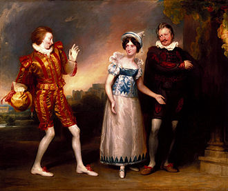 John Downman - Master Page, Anne Page, and Slender