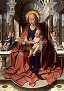 Master of Frankfurt - Virgin and Child Enthroned - Walters 37773.jpg