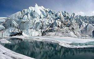 Matanuska Glacier - Matanuska Glacier terminus